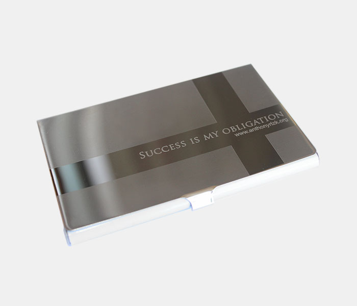 Motivational Business Card Holder - Anthony Rizk