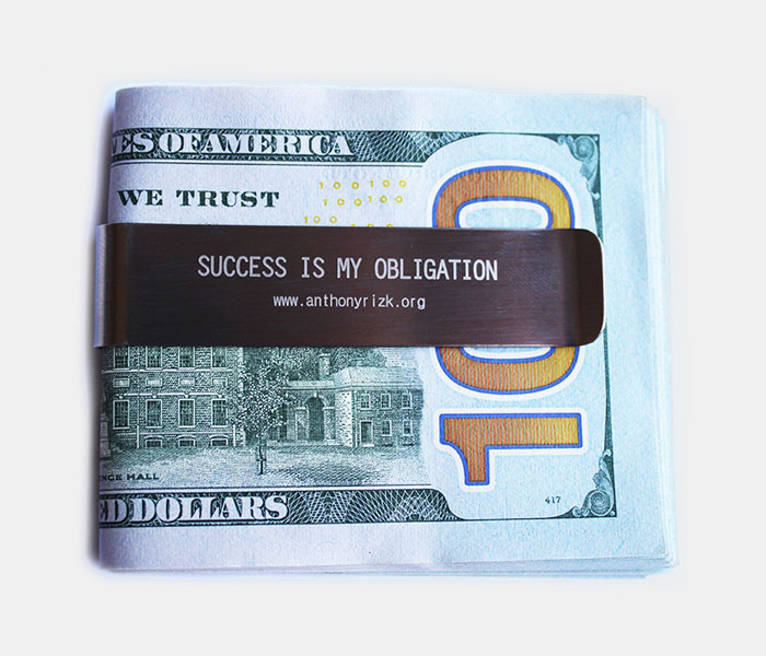 Motivational Money Clip - Anthony Rizk