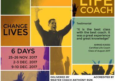Life Coach Certification Beirut – Lebanon – November – December 2017