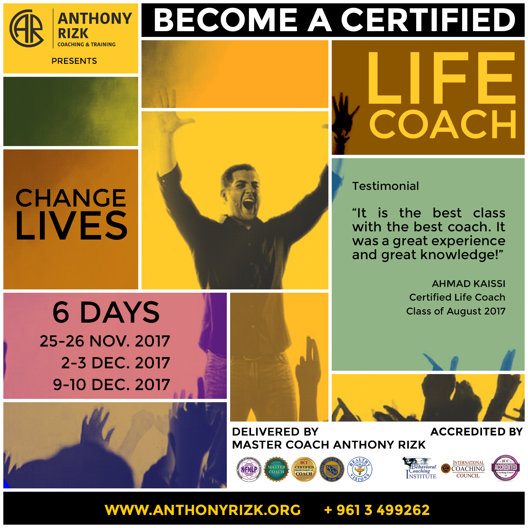 Become a life coach in november
